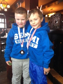 Dawson and Carson Hockey Champs