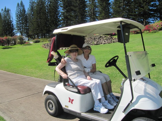 Mom and me playing golf