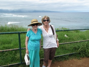 Mom and me in Maui