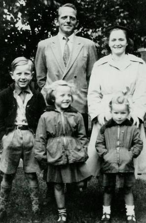 My father Valdemar, brother Tom, sister Elizabeth and my mother and I – both Margaret