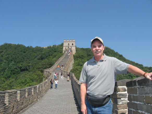 At the Great Wall of China on a Blue Sky Day. Taken just prior to out return home to Vancouver.